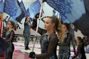 color guard band performs