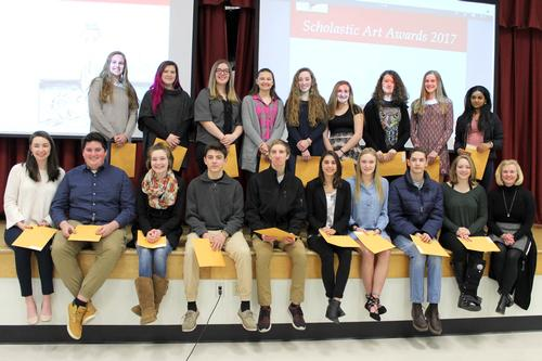 Students who won awards in the Scholastic Art competition